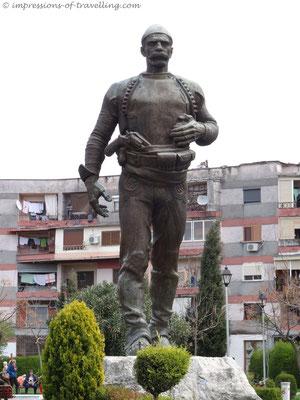 Statue in Shkoder/ Albanien