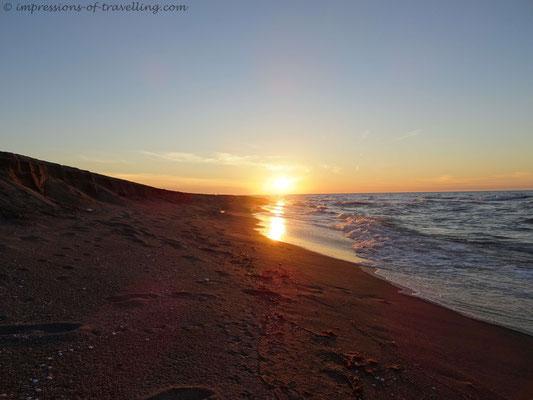 Sonnenuntergang an der türkischen Schwarzmeerküste