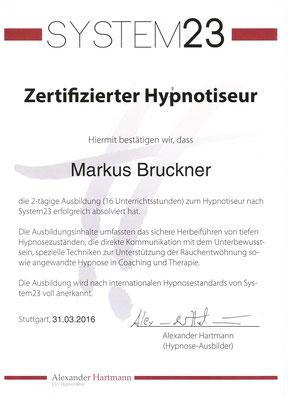 Zertifizierter Hypnotiseur