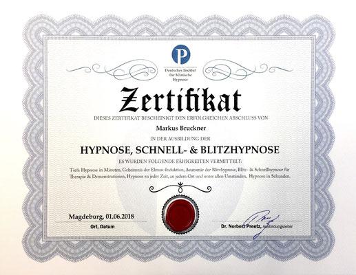 Preetz-Hypnose Schnell und Blitzhypnose