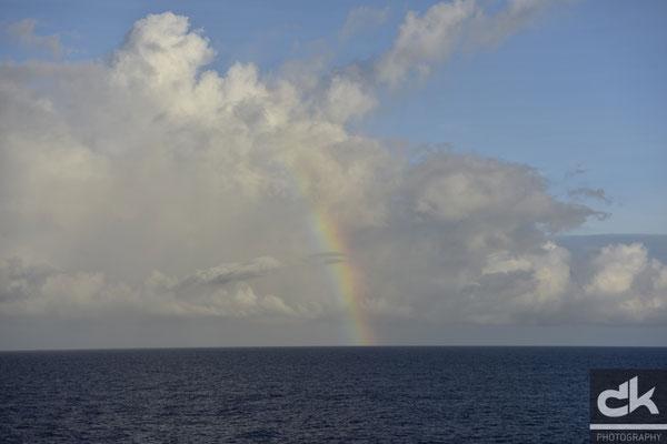 ..und gegenüber ein schöner Regenbogen