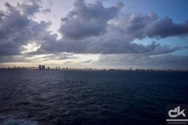 Silouette von Miami Beach
