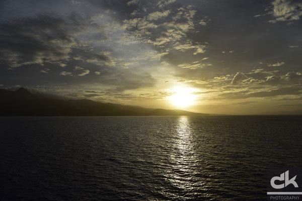 Sonnenaufgang über Martinique