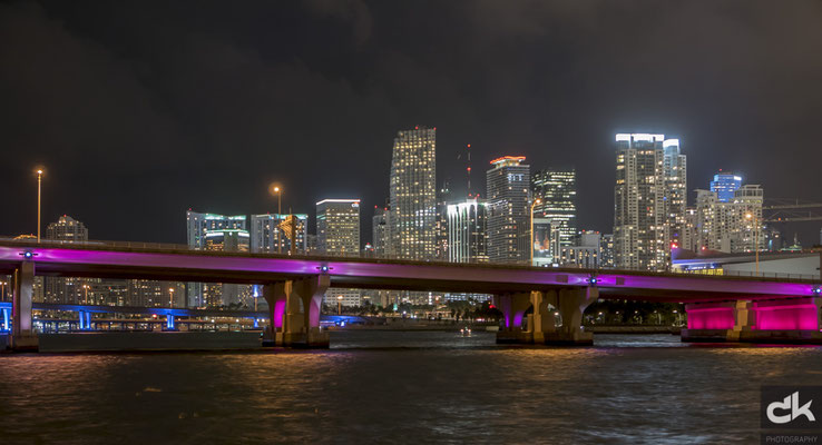 Downtown Miami by night