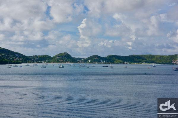 Ausblick vom Hafen von St. George's