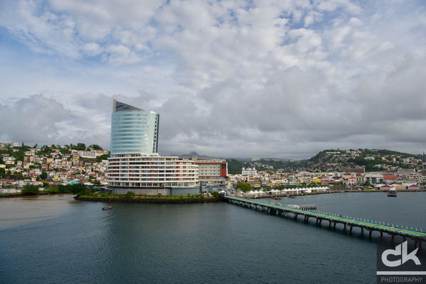 Der Hafen von Fort de France, Martinique