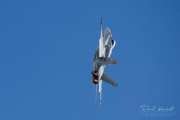"""KW15: Nicolas """"Vincent"""" Rossier, Schweizer Luftwaffe, F/A-18, aufgenommen mit der Nikon D850"""