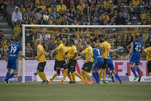 Das 0:1 für FC Luzern durch Christian Schneuwly in der 47. Minute