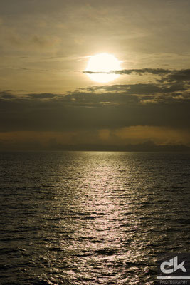 Sonnenaufgang vor Antigua