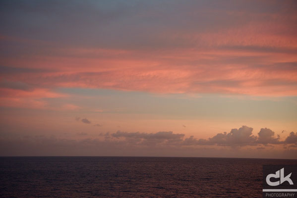 Morgenrot über St. Lucia