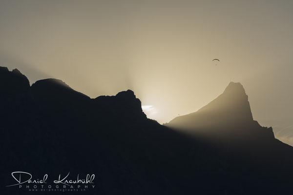 Stockhorn im Sonnenuntergang