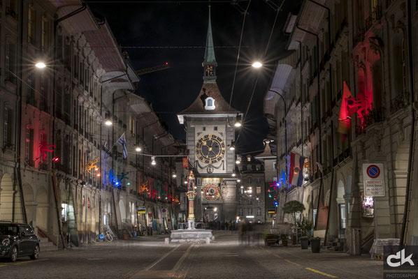 ...noch ist es ruhig in der Kramgasse der Berner Altstadt