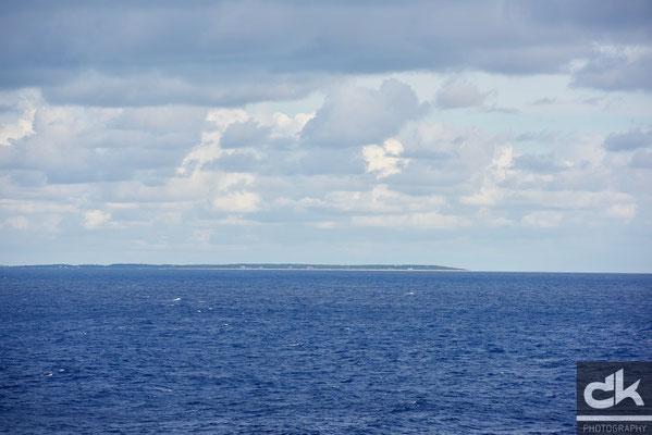 Erste Insel in Sicht