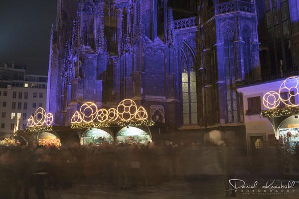Weihnachtsmarkt beim Stephansdom in Wien