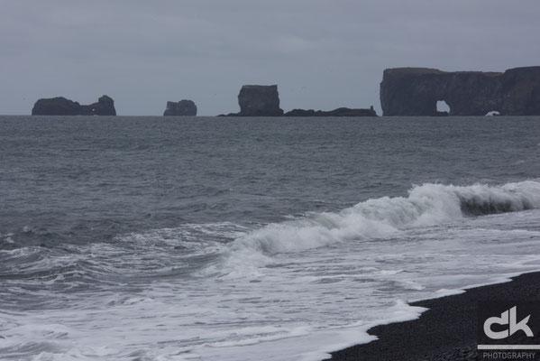 Blick zur Halbinsel Dyhólaey (Südisland, Mai 2016)