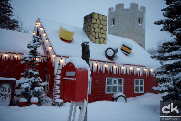 Weihnachtshaus ausserhalb Akureyri