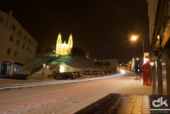 Akureyri by night
