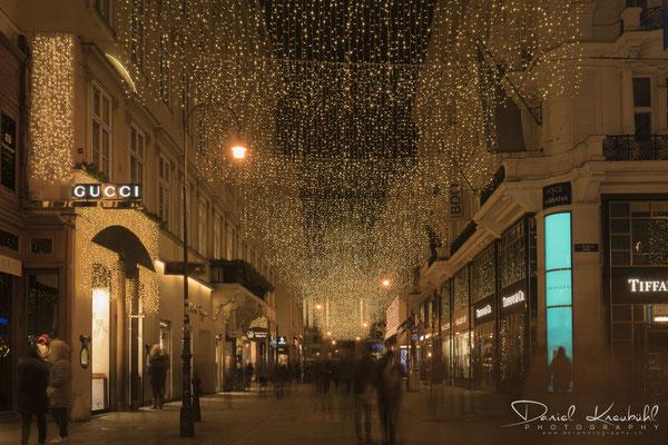 Weihnachtsbeleuchtung am Kohlmarkt, Wien