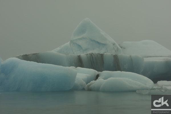 Eisberge im Jökulsárlón