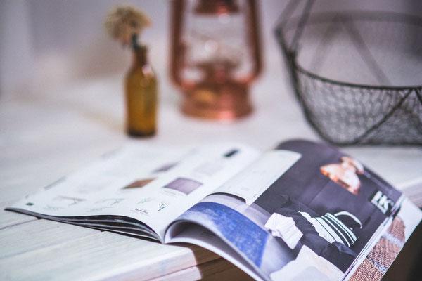 Magazine im Hochglanzformat