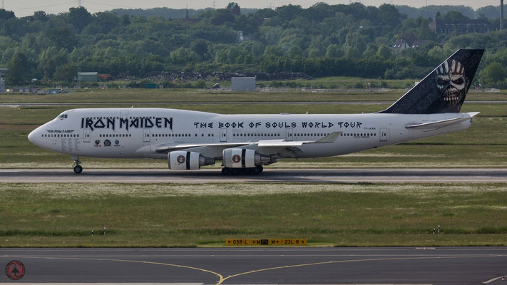 TF-AAK Iron Maiden Ed Force One 1 Boeing 747