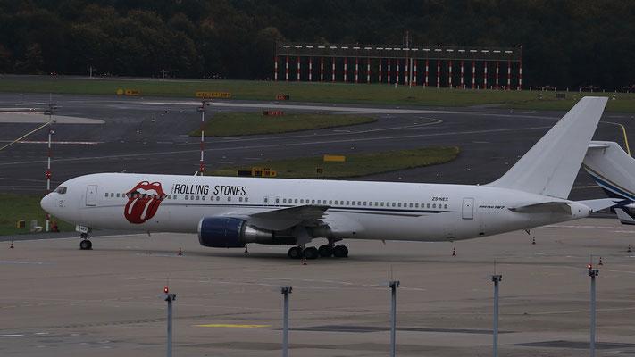 """ZS-NEX Aeronexus Corporation Boeing 767-35D(ER) """"Rolling Stones Tour 2017"""""""