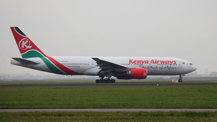 5Y-KQS Kenya Airways Boeing 777-2U8 (ER)