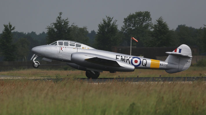 Gloster Meteor T7 WA591 jet trainer The Gloster Meteor was build between 1944 and 1965