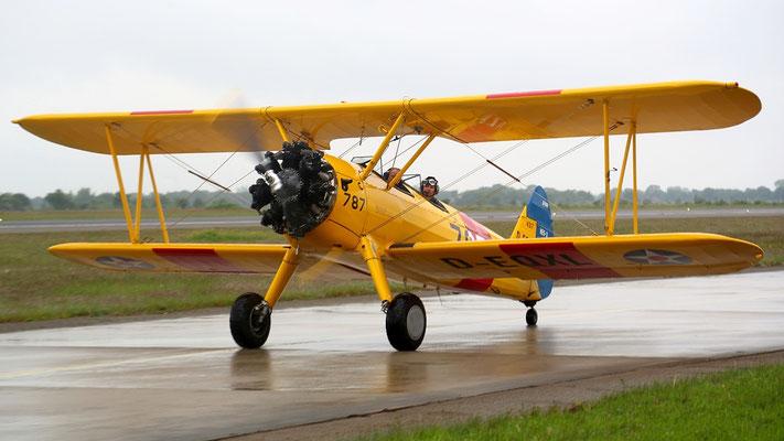 Boeing PT 17 Stearman Schulflugzeug gebaut von 1936-1944 - 8584 Stück Bild:  D-EQXL Baujahr 1941 im privaten Besitz