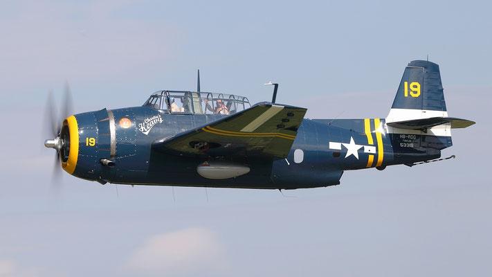 Grumman TBM-3R Avenger Torpedobomber Produktionszeit 1942-1945 9836 Stück Bild: HB-RDG cn 3381. ex G-BTDP N3966A