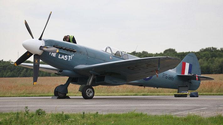 PS915 Royal Air Force Supermarine 389 Spitfire PR19 gebaut 1945 Britisches Jagdflugzeug