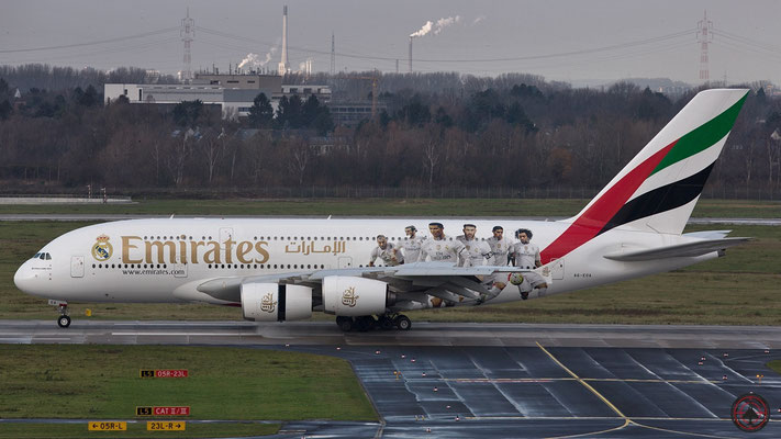A6-EOA Real Madrid Airbus A380-861 serial 159 with registration A6-EOA (ex F-WWSE)