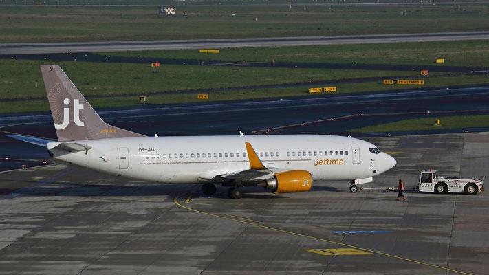 OY-JTD Jettime Boeing 737-3Y0