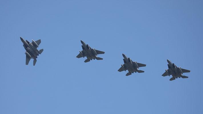 """USAF F-15 """"Eagle"""" 4ship formation"""