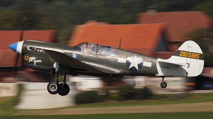 "Curtiss P-40N ""Kittyhawk"" Amerikanisches Jagdflugzeug produziert 1939-1944 13738 Stück Bild:F-AZKU"