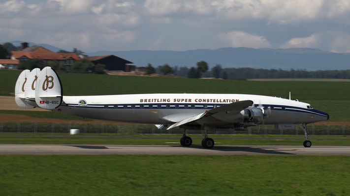 HB-RSC Lockheed Super Constellation build in 1956 as military frighter , C-121C,