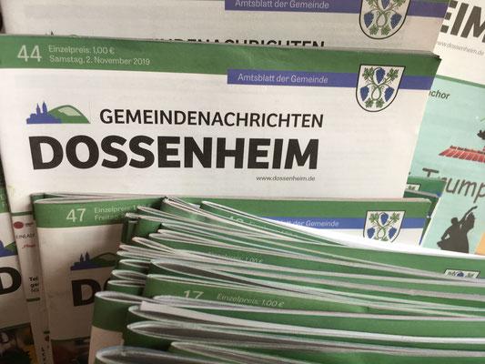 In den Gemeindenachrichten informieren wir regelmäßig über aktuelle Entwicklungen (Dagmar Schülke)