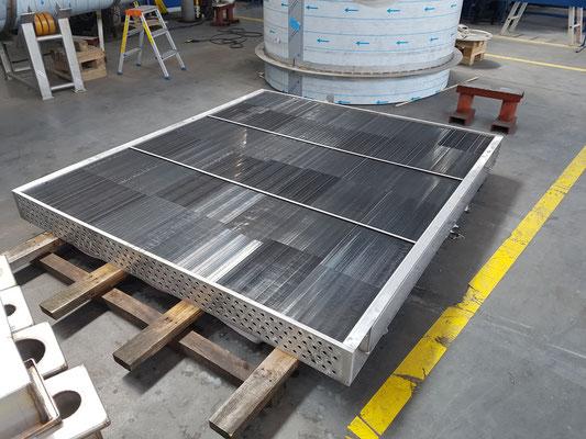 Steam Heat Exchanger Element with Orbital Welded Tubes (automated welding machine)