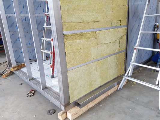 Mineral Wool Insulation Material Integrated into the Heat Exchanger Housing