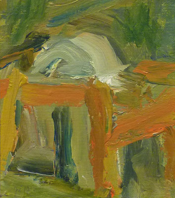 Döben 11, 16x14, Acryl auf Papier, 2017