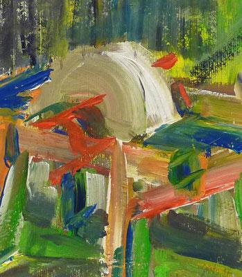 Döben 1, 16x14, Acryl auf Papier, 2017
