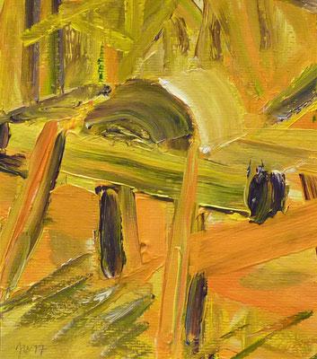 Döben 9, 16x14, Acryl auf Papier, 2017
