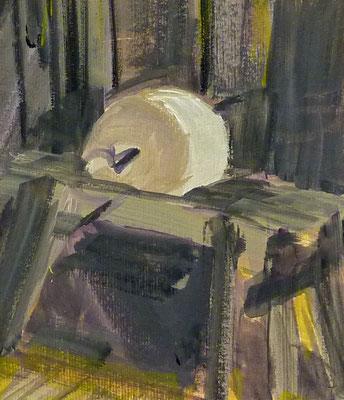 Döben 14, 16x14, Acryl auf Papier, 2017