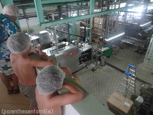 Visite de l'usine de jus de fruits