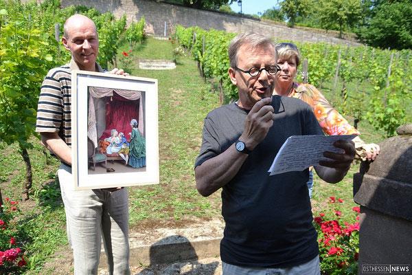 von links: Ralf Liebau, Heribert Burkert (Graphiker), Barbara Hermann