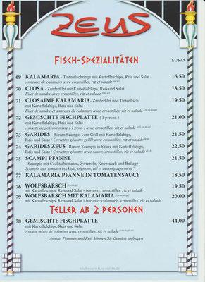 Fisch-Spezialitäten