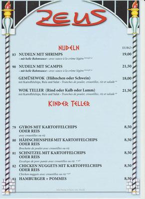 Nudeln und Kinder Teller