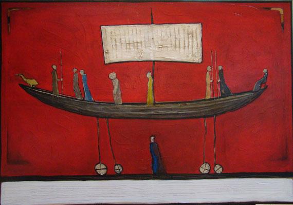Narrenschiff_120 x 80 cm_2016 (Galerie Kunstscheune Barnstorf_http://www.kunstscheune-barnstorf.de/)