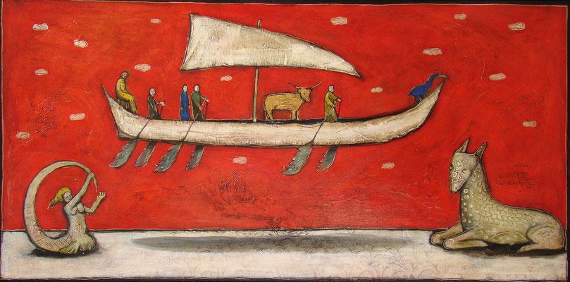 Großes Narrenschiff_120 x 60 cm_2016 (Atelier Karwe)