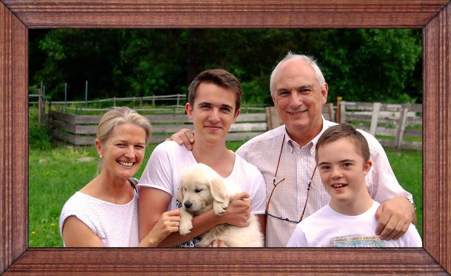 Vikki mit Familie